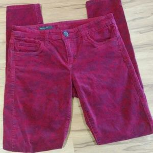 Kut From The Kloth MIA Red Floral Velvet Pants(6)